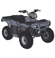 Small all terrain vehicle vector image vector image