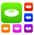 soap set color collection vector image vector image
