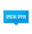 special offer price tag vector image vector image