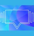 speech bubble dynamic white continuous line vector image