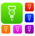 spring scale set collection vector image vector image