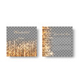 square background with golden rays vector image vector image