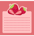 Strawberry Memo Notes vector image vector image