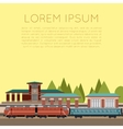 Suburban train station vector image