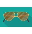 sun glasses with long shadow vector image vector image
