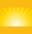 sunburst retro sun rays yellow background vector image vector image
