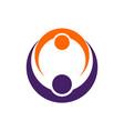 team work logo icon concept vector image