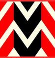 the pattern in which red black and white lines vector image vector image