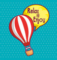 travel in balloon air hot vector image
