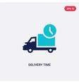 two color delivery time icon from delivery and vector image
