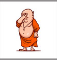 upset buddha shows the facepalm gesture vector image