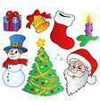 various christmas images vector image