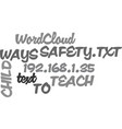 ways to teach child safety text word cloud concept vector image vector image
