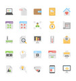 web design flat colored icons 9 vector image vector image