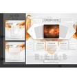 Website Design Template Menu Elements vector image vector image