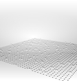 Wireframe Area Mesh Polygonal Surface vector image vector image