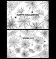 happy halloween spider web vector image