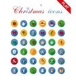Christmas icons set and design elements vector image