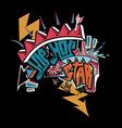 Hip hop graffiti vector image