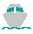 ship cruise isolated icon vector image