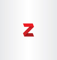 3d red logo letter z sign icon vector image