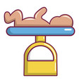 baby weight icon cartoon style vector image
