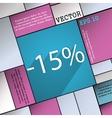 15 percent discount icon symbol Flat modern web vector image