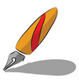 a fountain pen with red and orange color or color vector image