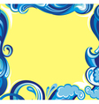 Abstract water frame vector image vector image
