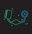 blood pressure icon design vector image