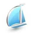 Boat yacht icon vector image vector image