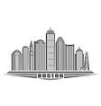 boston vector image