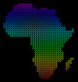 bright africa map vector image