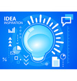 bright light bubble on blue background for b vector image vector image