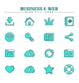 Business and web blue fill icons set vector image vector image