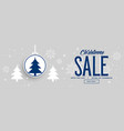 christmas holiday sale and discount banner design vector image