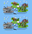 city farm and oil extraction vector image vector image
