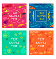 colored card backgrounds with design elements vector image vector image