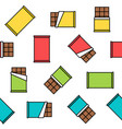 colorful chocolate seamless pattern on white vector image
