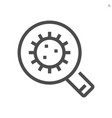 coronavirus disease and find infection icon vector image