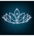 Crown with concepts from diamonds vector image vector image