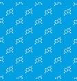 crystal lattice pattern seamless blue vector image
