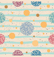 cute seamless pattern with colorful ball on paper vector image vector image