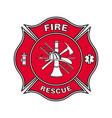 fire department emblem st florian maltese cross vector image vector image
