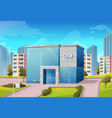 fitness center sport gym building on city street vector image
