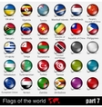 flags all countries in 3d ball vector image vector image