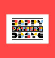 flat style fathers day greeting card or poster vector image vector image