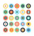 Flowers Colored Icons 1 vector image