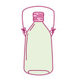 full color long mason jar with wire handle vector image vector image