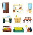 furniture furnishings design of sofa couch vector image vector image